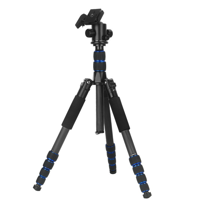 VELEDGE VD-302 Carbon Fiber 5-Sections Tripod - BlackOther Accessories<br>Form ColorBlackMaterialCarbon fiberQuantity1 DX.PCM.Model.AttributeModel.UnitOther FeaturesBallhead Size: 3/8<br>Number of Leg Sections: 5<br>MAX/MIN PIPE diameter: 25mm/13mmPacking List1 * Tripod<br>