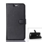 PU Leather Wallet Case w/ Card Slots for Elephone P8000 - Black