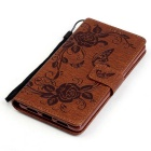 BLCR Butterfly Pattern Protective Case for Huawei P9 Lite - Brown