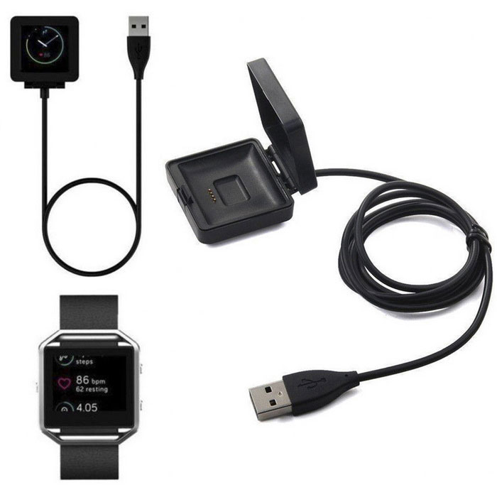 Replacement USB Charging Cable for Fitbit Blaze - BlackWearable Device Accessories<br>Form  ColorBlackQuantity1 DX.PCM.Model.AttributeModel.UnitMaterialABSOther FeaturesInput voltage: 5V Output voltage: 5V Output Current: 500mA Interface: Probe InterfacePacking List1 * Charger (Cable 84cm)<br>