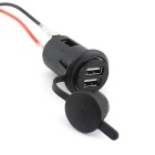 Car Motorbike Cigarette Lighter Power Plug Socket 12V USB Car Charger