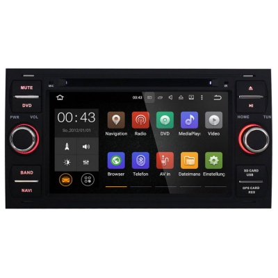 Joyous 1024 * 600 Android 5.1 2 Din Radio Car DVD for Ford - Black