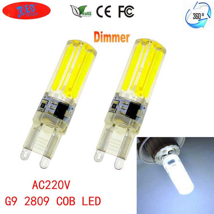 JRLED G9 Dimmable 6W 80-COB LED Cold White Light Ceramic Bulbs