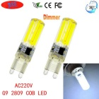 JRLED G9 Dimmable 6W 80-COB LED Cool White Light Ceramic Bulbs