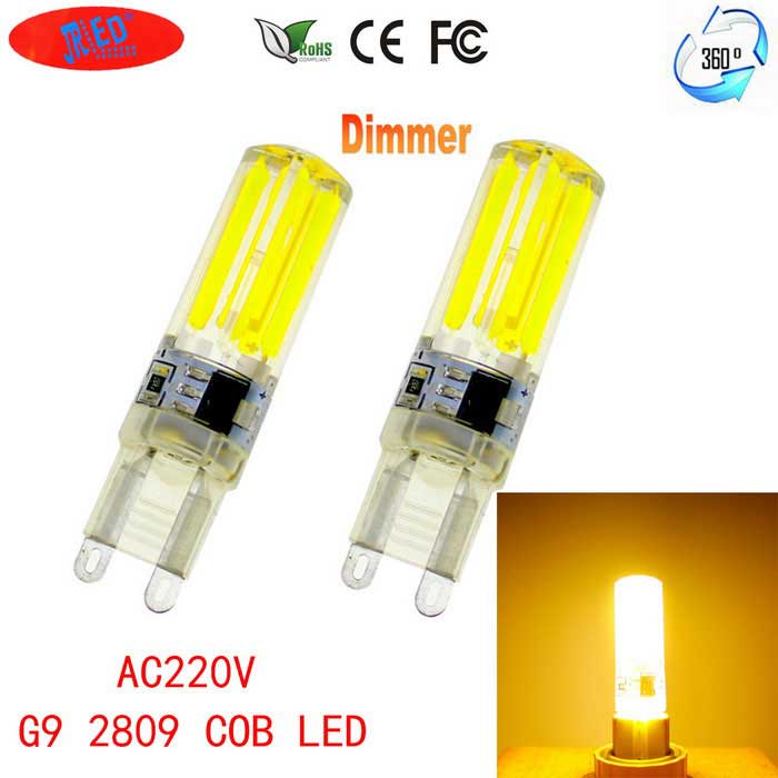 JRLED G9 Dimmable 6W 80-COB LED Warm White Light Ceramic Bulbs