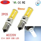 JRLED E14 Dimmable 6W 80-COB LED Cold White Light Ceramic Bulbs