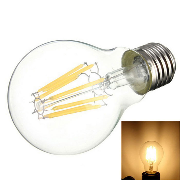 KWB A60-8W-220V 8-LED Filament Candle Bulb Lamp Warm White
