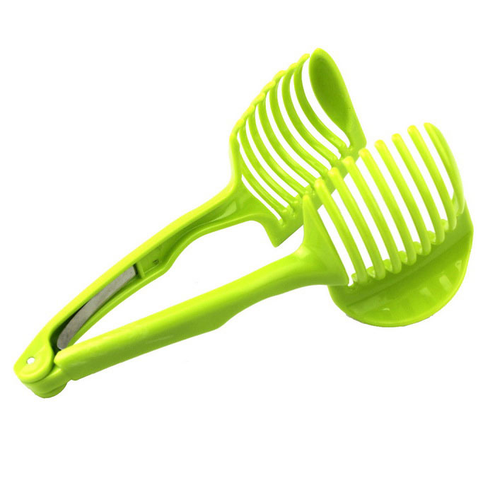 Kitchen Gadgets Lemon Tomato Egg Slicer Clip Fruit Splitter - GreenForm  ColorGreenMaterialPlasticQuantity1 DX.PCM.Model.AttributeModel.UnitPacking List1 * Slicer<br>
