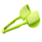 Kitchen Gadgets Lemon Tomato Egg Slicer Clip Fruit Splitter - Green