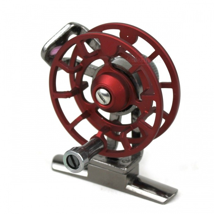 Red Lithe Aluminium Alloy Fishing Reel - Red + Multicolor