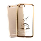 Perle Patterned TPU Retour Housse pour IPHONE 6Plus / 6sPlus - Gold