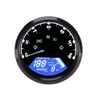 12V LCD Digital Speedometer Odomètre Motorcycle Motor Bike AVEC LED