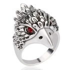 Men's Cool Punk Eagle Style Gem Studded Ring - Silver (US Size 10)