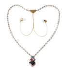 KWB Fashion Wireless In-ear Necklace Headset w/ Mic - Rose Gold