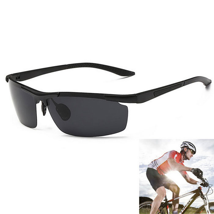 Men's Outdoor Cycling Ultralight Polarized Sunglasses - Black + Grey