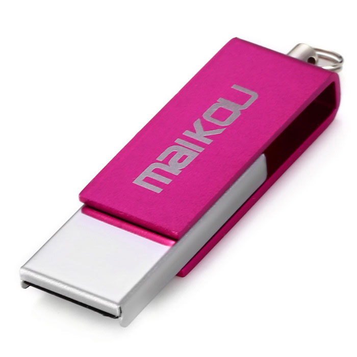 Maikou MK0008 criativo 16GB USB 2.0 disco flash drive U - rosa escuro