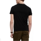 J1071 Men's 3D Printing Round-Neck T-shirt - Black (XXL)