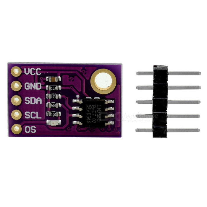 CJMCU-75 LM75 Temperature Sensor High-speed I2C Development BoardSensors<br>Form ColorPurpleModelCJMCU-75 LM75Quantity1 DX.PCM.Model.AttributeModel.UnitMaterialCCL + componentsApplicationTemperature sensorWorking Voltage   2.8~5.5 DX.PCM.Model.AttributeModel.UnitEnglish Manual / SpecYesDownload Link   http://pan.baidu.com/s/1mhOinjyPacking List1 * Board1 * 5pin header<br>