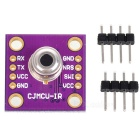 Infrared Non-Contact Serial Port Output Temperature Measuring Meter Board w/ Pin Headers - Purple