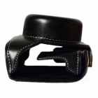 Crazy Horse Leather Camera Case Bag for Panasonic GF8 - Black