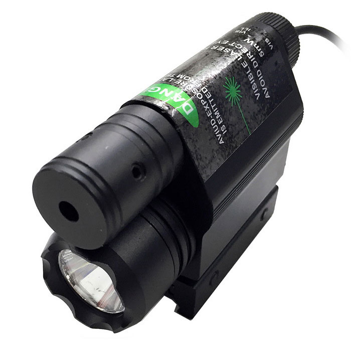 ACCU Multifunctional 2-in-1 LED 220lm White Flashlight + Green Laser