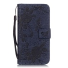 BLCR Butterfly Pattern Case for Samsung Galaxy S7 - Deep Blue