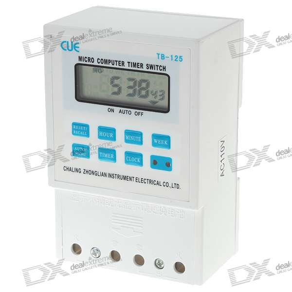 "2.0"" LCD Micro-Computer Electric Power Timer Switch Time Controller with Clock (110V)"