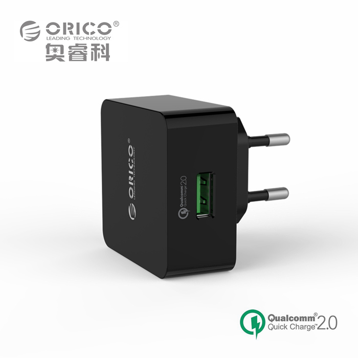 ORICO QCK-1U 18W QC 2.0 Fast USB Wall Travel Charger for Mobile Phone