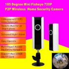 185 Degree 1.0MP Wireless Network Camera w/ Home Security (US Plugs)