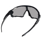 Unisex Outdoor Sports Cycling Reflective Sunglasses - Black + Grey
