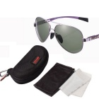 ReeDoon 8057 Protection Polarized Sunglasses - Purple + Dark Green