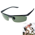 Outdoor Cycling Ultralight Polarized Sunglasses Black + Dark Green