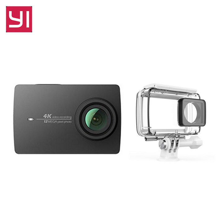 Xiaomi Yi II Wi-Fi 4K 2.19 Touch Sports Camera 2 + Waterproof CaseSport Cameras<br>Form  ColorBlack(Waterproof Suit)Shade Of ColorBlackMaterialABSQuantity1 DX.PCM.Model.AttributeModel.UnitImage SensorCMOSImage Sensor SizeOthers,IMX377Anti-ShakeYesFocal Distance2.68 DX.PCM.Model.AttributeModel.UnitFocusing RangeF = 2.68mmAperture2.8Wide Angle155Effective Pixels4KImagesJPEGStill Image Resolution12MPVideoMP4,Others,H.264Video Resolution4KVideo Frame Rate30Cycle RecordNoISONoExposure CompensationNoSupports Card TypeSDSupports Max. Capacity64 DX.PCM.Model.AttributeModel.UnitBuilt-in Memory / RAMNoInput InterfaceMicOutput InterfaceMicro USBLCD ScreenYesScreen TypeTFTScreen Size2.19 DX.PCM.Model.AttributeModel.UnitScreen Resolution169Battery Measured Capacity 1300 DX.PCM.Model.AttributeModel.UnitNominal Capacity1400 DX.PCM.Model.AttributeModel.UnitBattery TypeLi-ion batteryBattery included or notYesBattery Quantity1 DX.PCM.Model.AttributeModel.UnitSupported LanguagesSimplified ChinesePacking List1 * Xiaomi Yi II 4K Action camera1 * Battery 1 * Data cable (20CM)1 * User manual(Chinese) 1 * Waterproof Case<br>