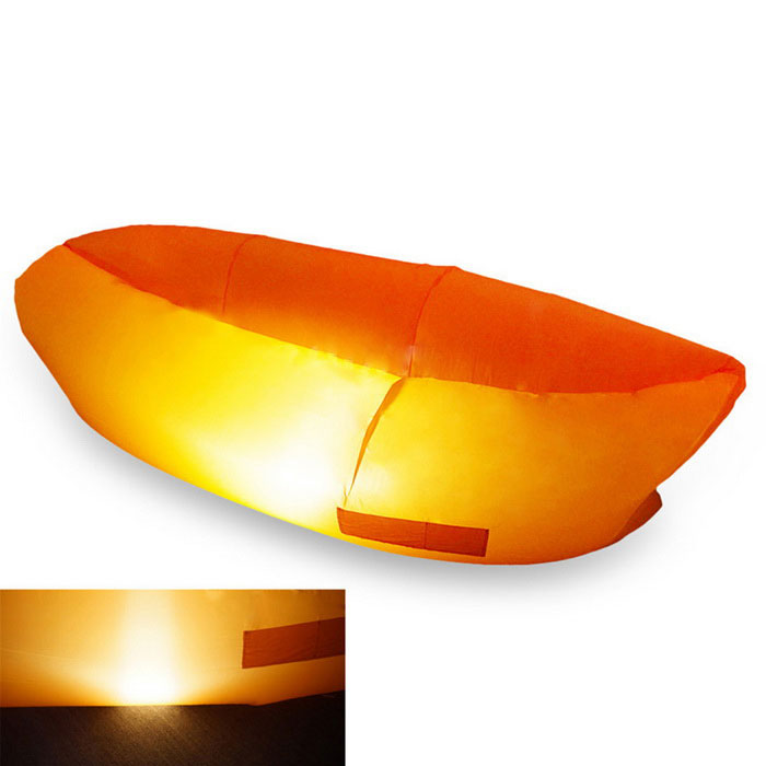 LED Light Camping Lamp Portable Inflatable Sofa Bed Lounger   Orange Part 85