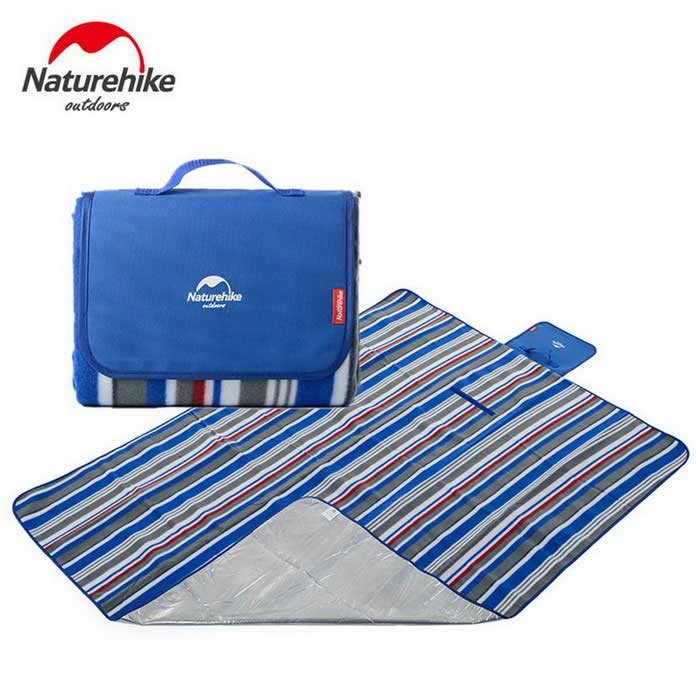NatureHike-NH Folding 2-Person Camping Shelter / Mat - Blue + White