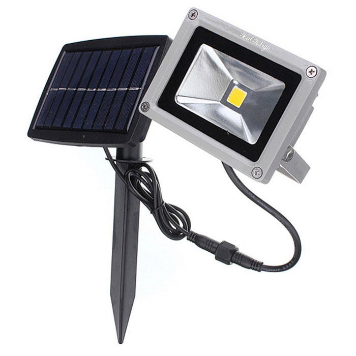 YouOKLight 10W Cold White Solar Waterproof Outdoor LED Flood Light