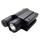 ACCU Multifunctional 2-in-1 LED 220lm White Flashlight + Red Laser