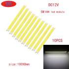 JRLED 100 * 8mm 5W 16-COB cool LED branco módulos (dc 12 ~ 14V / 10 pcs)