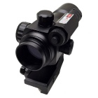ACCU 1X 30 Professional Red / Green Sight Rifle Scope with Red Laser