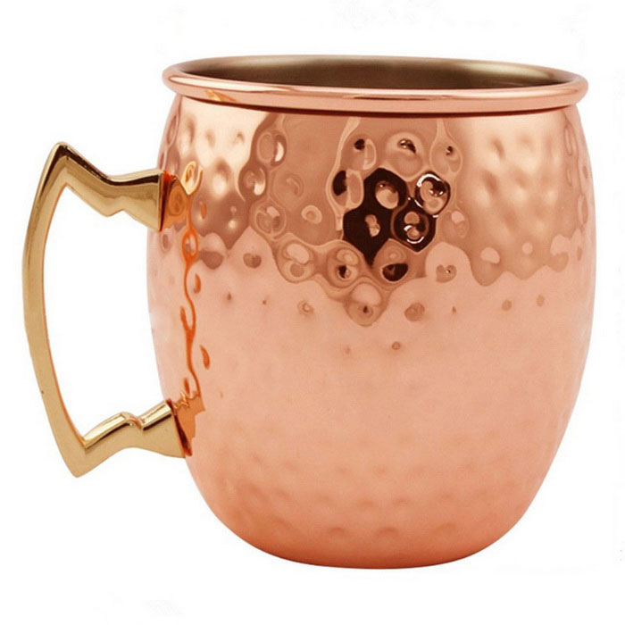 Hammer Finished Mule Copper Mug Daily Use Drinking Cup