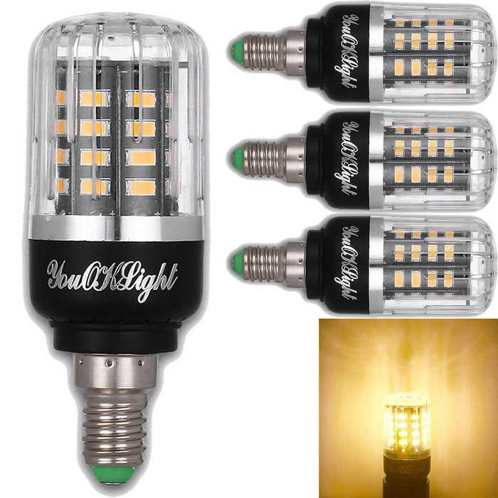 YouOKLight E14 3W bianco caldo 40-SMD-5736 Corn lampadina LED (4 PCS)
