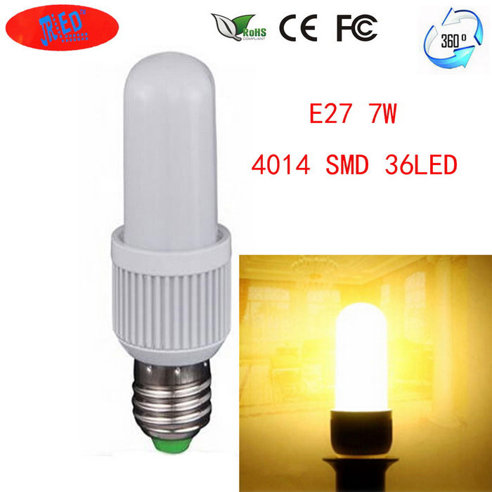 JRLED E27 7W LED-Mais-Lampen 36-SMD 4014 (AC 110 ~ 265V)
