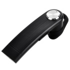 Whistle Shape In-Ear Stereo Bluetooth Earphone - Black + Silver