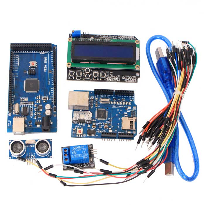 MEGA 2560 R3+ Ethernet W5100 + Relay + Hc-Sr04 Sensor Kit