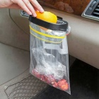 ZIQIAO Hanging Car Trash Bags Card Mouthparts - Black