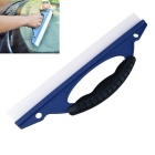 Car Snow Scraper Blade Foil Tools Wiper Blade Deicing Cleaning Shovel - Blue + White