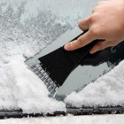 ZIQIAO Car Snow Shovel Snowboard Ice Scraper Tools - Black