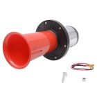 Auto Pump Single-Tube Hund Barking Sound Horn - Rot + Silber