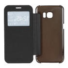 Protective Leather + ABS Case for GALAXY S7 Edge - Black