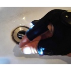 Sports Fishing Glove with 2 LED Lights for Night Activities - Black